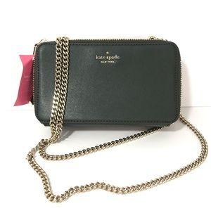 Kate Spade Double Chain Zip Crossbody Shoulder Bag
